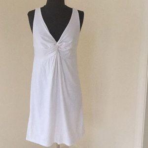 LOFT size small white sleeveless tie knot dress